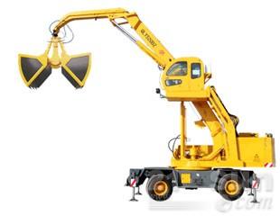 八达重工QLYS20DZ双动力液压轮胎式折叠臂抓斗起重机