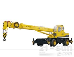 八达重工QLYS12SZ双动力液压轮胎式伸缩臂抓斗起重机