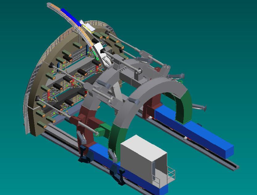 铁建重工拱架式预切槽设备隧道轨道设备