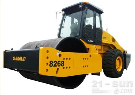 常林公司8268机械式高端型单钢轮压路机