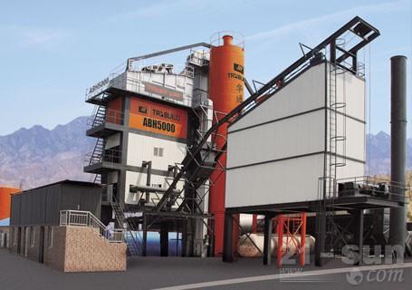 华通动力ABH5000强制间歇式沥青搅拌站