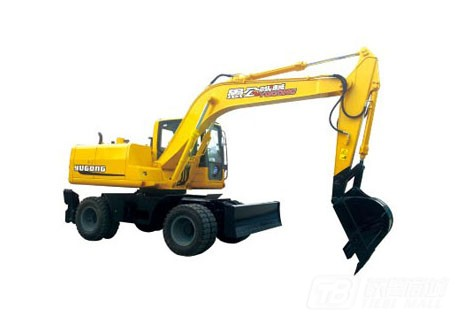 愚公机械WYL135X4-9轮式挖掘机