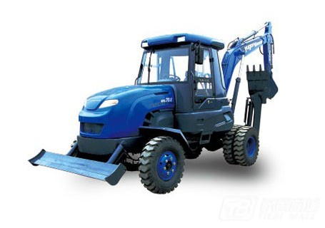愚公机械WYL5.6轮式挖掘机