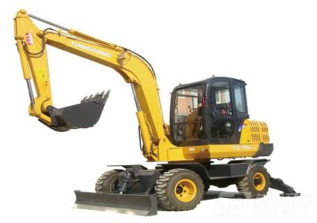 永工YG75-5轮式挖掘机