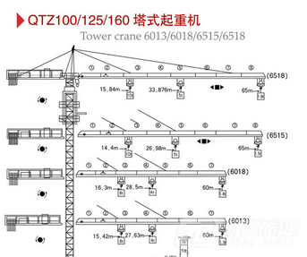 百脉建机QTZ125B塔式起重机