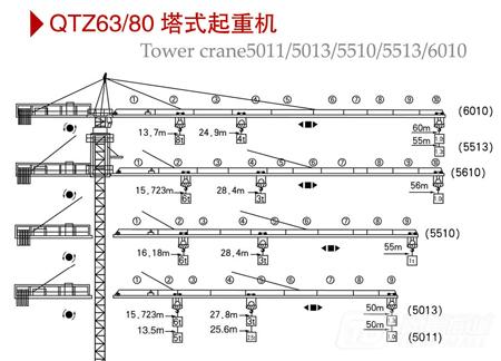 百脉建机QTZ63(TC5011)塔式起重机