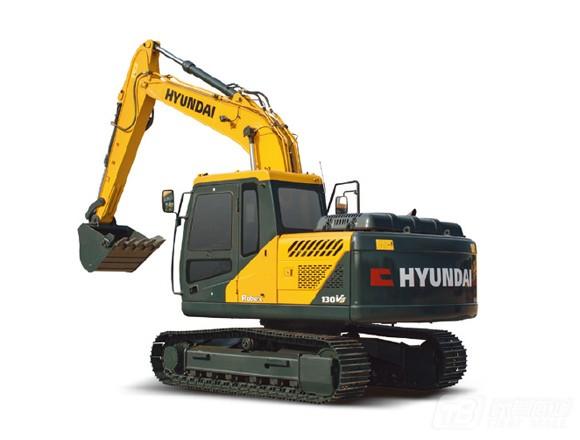 现代R130vs履带挖掘机
