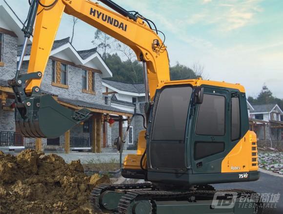 现代R75 VS履带挖掘机