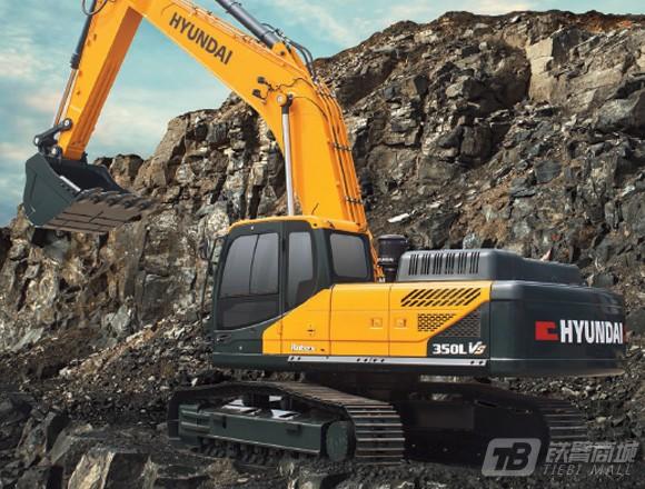 现代R350L VS履带挖掘机