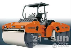 悍马HD130双钢轮压路机