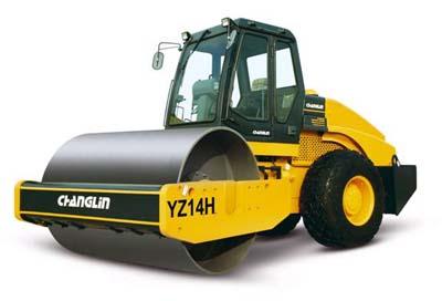 常林公司YZ14H液压单驱振动压路机