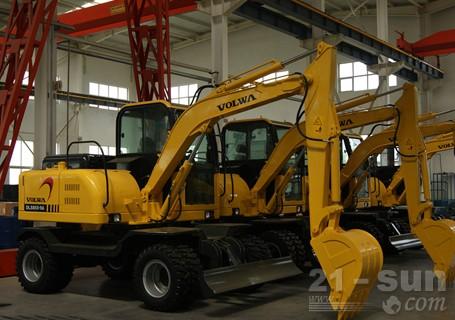沃尔华DLS865-9A轮式挖掘机外观图3