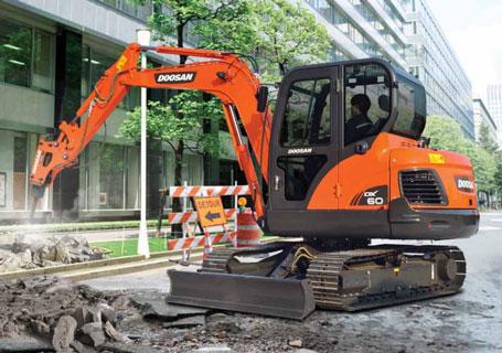 斗山DX60-9C挖掘机外观图6