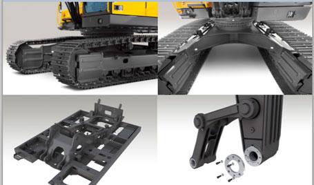 沃尔沃EC350D大型履带式挖掘机外观图6