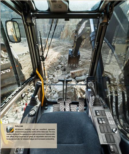 沃尔沃EC350D大型履带式挖掘机外观图4
