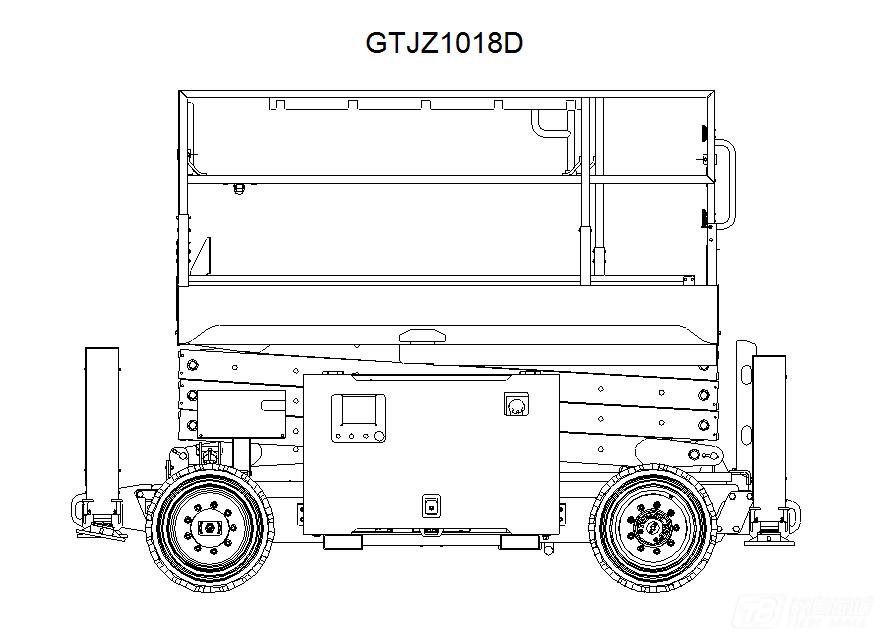 星邦重工GTJZ1018D剪叉式高空作业平台外观图2