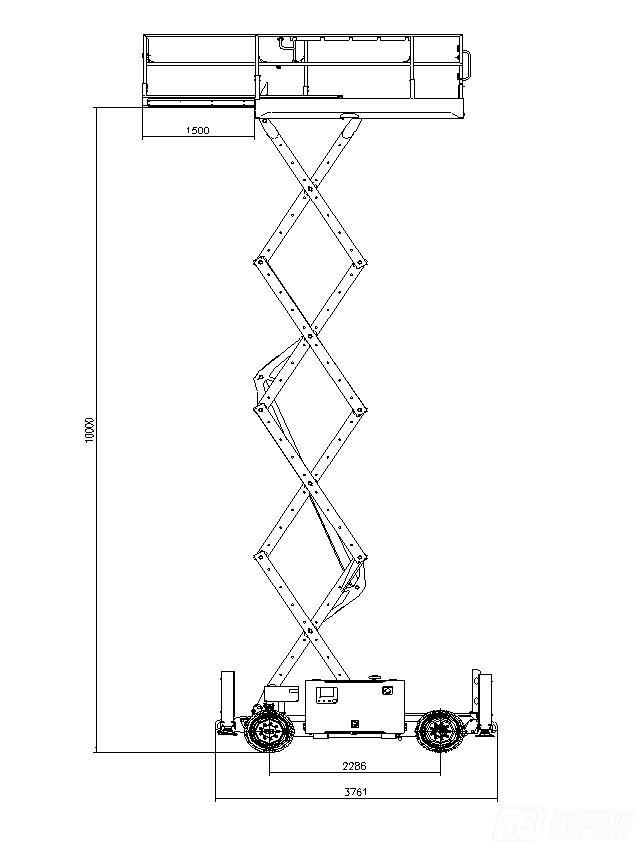 星邦重工GTJZ1018D剪叉式高空作业平台外观图3