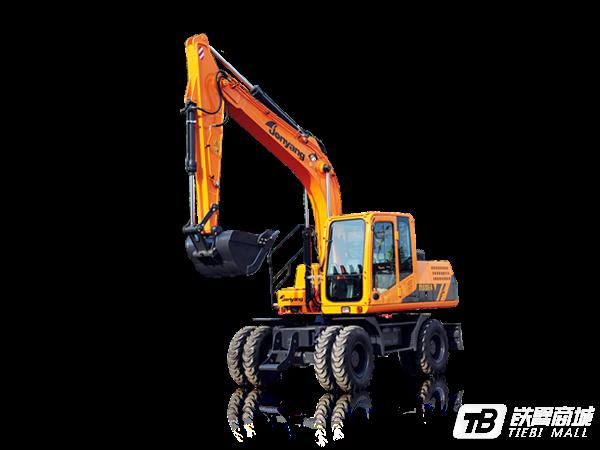 詹阳重工JYL615E-N轮胎式挖掘机外观图2