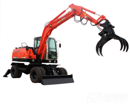 晋工JGM9085LNZ-9G轮式挖掘机外观图1
