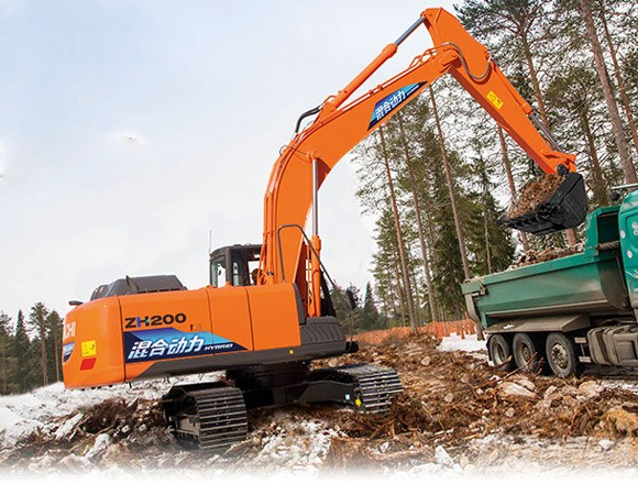 日立ZH200-5A中型挖掘机外观图1
