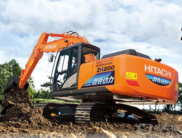 日立ZH200-5A中型挖掘机外观图3