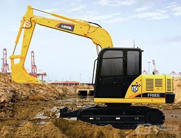 雷沃重工FR80E履带挖掘机外观图1