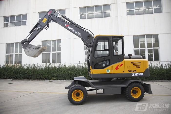 沃尔华DLS875-9M轮式挖掘机外观图1