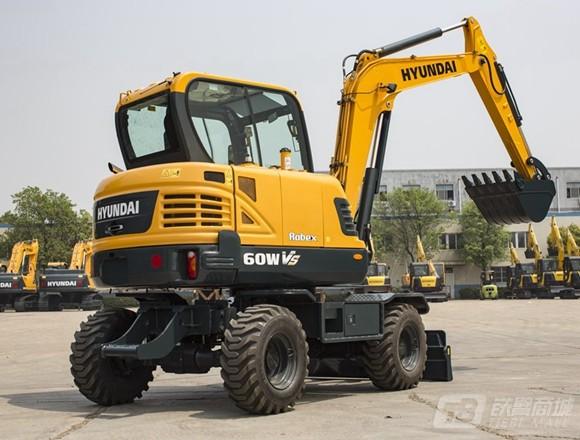 现代R60WVS轮式挖掘机外观图2