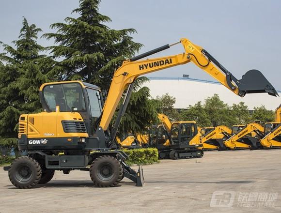 现代R60WVS轮式挖掘机外观图3
