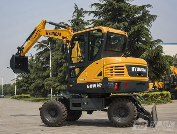 现代R60WVS轮式挖掘机外观图1