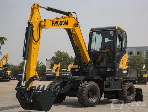 现代R60WVS轮式挖掘机外观图4