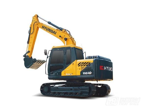 现代R110VS小型挖掘机外观图1