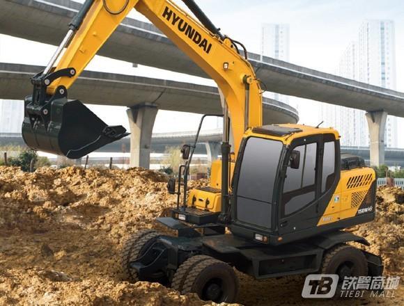 现代R150WVS轮式挖掘机外观图1