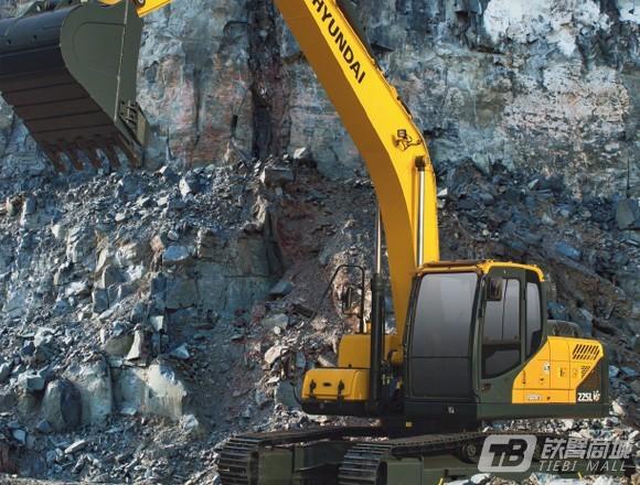 现代R225LVS中大型挖掘机外观图1
