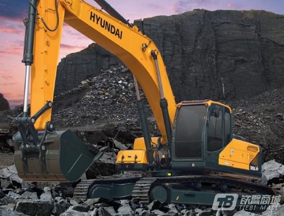 现代R305LVS中大型挖掘机外观图1
