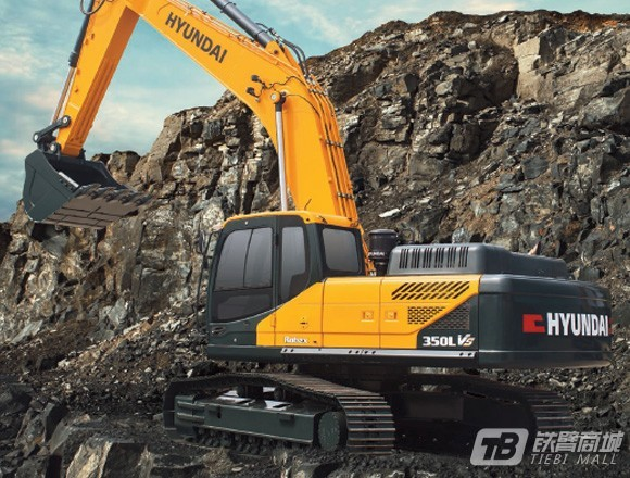 现代R350LVS履带挖掘机外观图1