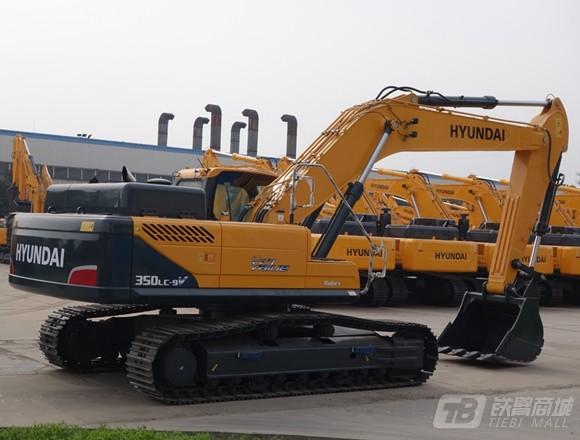 现代R350LC-9V挖掘机外观图2