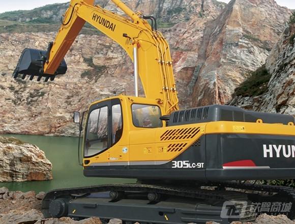 现代R305LC-9T挖掘机外观图1