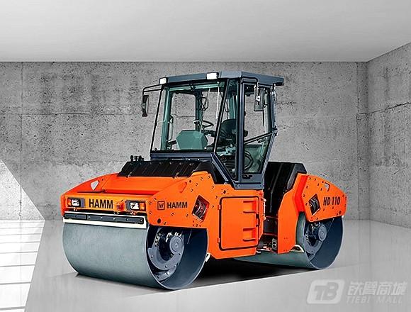 悍马HD110双钢轮压路机外观图3