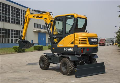 现代R60WVS轮式挖掘机外观图6