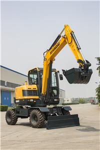 现代R60WVS轮式挖掘机外观图7