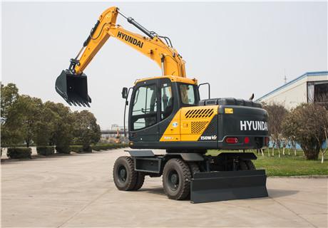 现代R150WVS轮式挖掘机外观图6