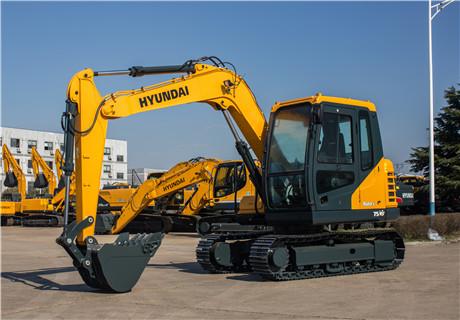 现代R75VS小型挖掘机外观图7