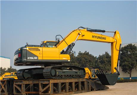 现代R275LVS中大型挖掘机外观图2
