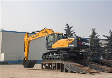 现代R305LVS中大型挖掘机外观图7