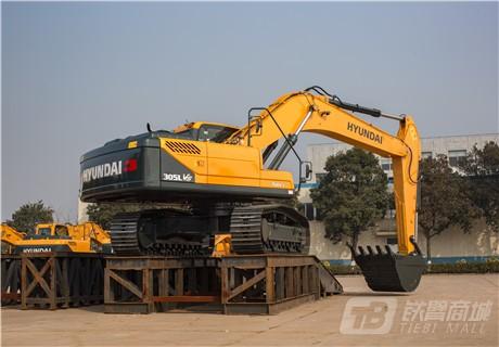 现代R305LVS中大型挖掘机外观图3