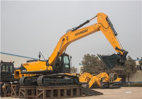 现代R350LC-9V挖掘机外观图5