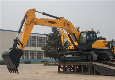 现代R350LC-9V挖掘机外观图4