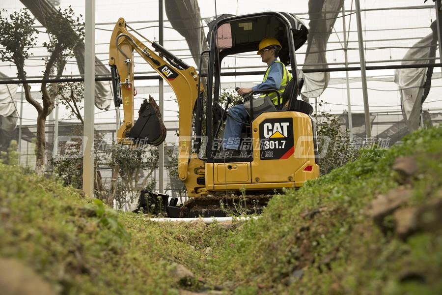 卡特彼勒新一代CAT®301.7 CR小型液压挖掘机外观图5