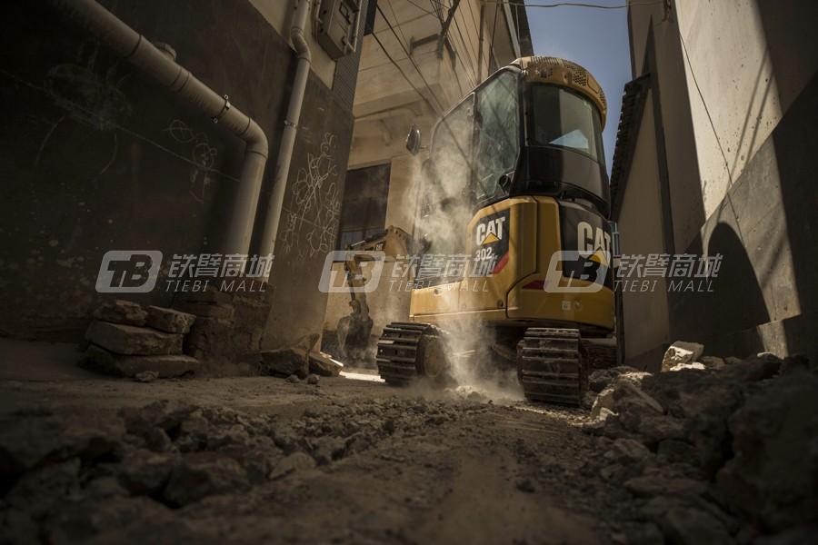 卡特彼勒新一代CAT®302 CR小型液压挖掘机外观图2